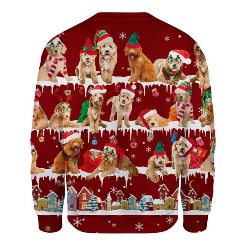 Goldendoodle Snow Christmas 3D Ugly Sweater